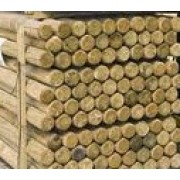 12ft x 4&quot;<br>Round Wooden Posts