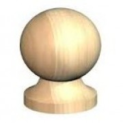 Post Ball & Collar Finial 4""