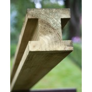 Planed & Ribbed Pine H Post<br>90mm x 90mm x 2.4m