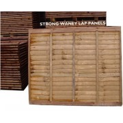 3Ft x 6Ft<br>Waney Lap Panels