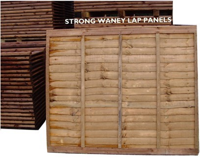Strong Waney lap Panels